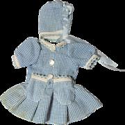 Crisp Cotton Doll Dress & Bonnet