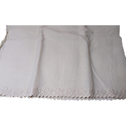 Perfect Antique Embroidered Wool Fabric