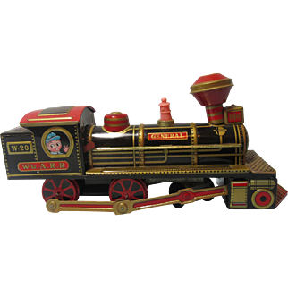 Vintage Tin Toy Train-Battery Op-Works!
