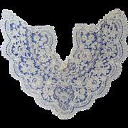 Magnificent Antique Battenburg Lace Collar