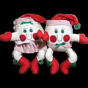 Adorable Humpty Dumpty Santa Claus Dolls