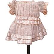 Delicate Antique Lace & Silk Doll Dress