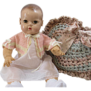 Darling Old Crochet Baby Doll Capelet