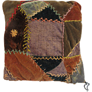 Quaint Country Antique Crazy Quilt Pillow