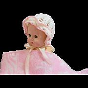 Precious Old Crochet Doll Bonnet