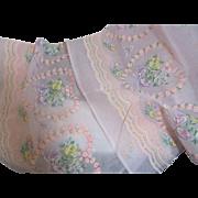 Fabulous Vintage Flocked Valentine Fabric