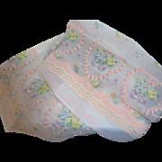 Fifties Chic Nylon Flocked Valentine Fabric