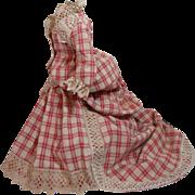Splendid Antique French Fashion Doll Dress