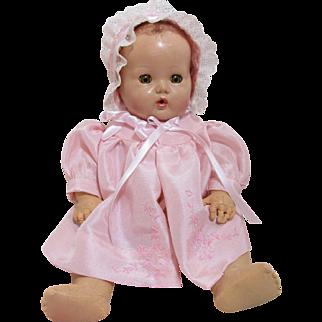 Precious Dy Dee Baby Pink Silk Coat & Bonnet