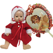 Luscious Angora Dy Dee Valentine Coat & Bonnet!