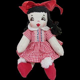 Cute Vintage Rag Doll-1950's