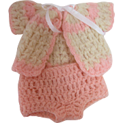 "Wool Crochet Doll Sweater & Panties for 11"" Doll"
