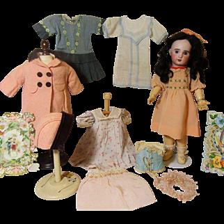 Jumeau Doll With Original Trunk & Wardrobe!