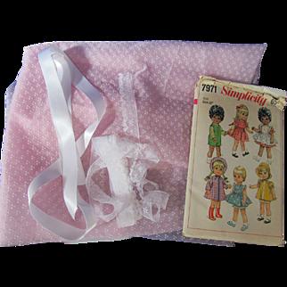 Doll Wardrobe Pattern, Fabric, & Trims!