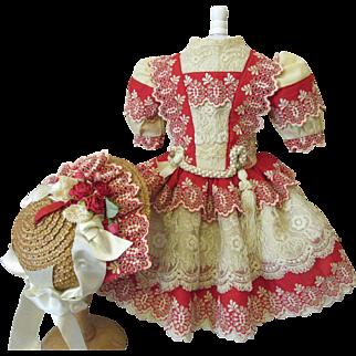 Fabulous French Doll Dress & Bonnet