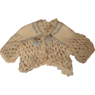 Lacy Antique Wool Doll Sweater-
