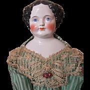 """Savannah""-Graceful Civil War China Doll-32"" Tall!"