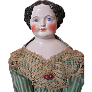 """Savannah""-Graceful Civil War China Doll-32"" Tall!"