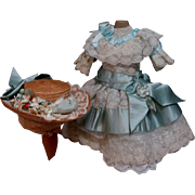 Enchanting French Silk Doll Dress & Hat