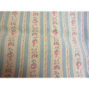 Old Cotton Pillow Ticking Fabric-Broken In
