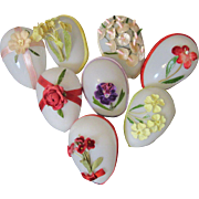 Pretty Vintage Glass Easter Eggs