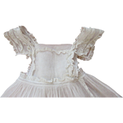 Marvelous Antique Organdy Doll Pinafore