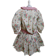 Pretty Floral Antique Doll Dress