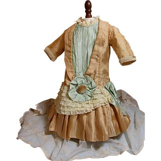 Beautiful Antique Silk Dress For Antique Doll