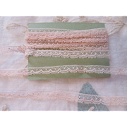 Dainty Antique French Lace.  Pale Pink