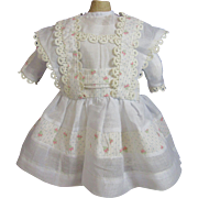 Charming Doll Dress & Antique Petticoat!