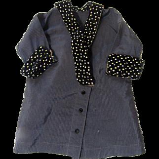 Antique Silk & Velvet Doll Coat