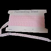 Vintage Narrow Pink Lace Edging