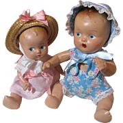 Cute Composition Baby Dolls With Swing!
