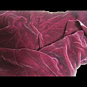 Delicious Deep Plum Silk Velvet