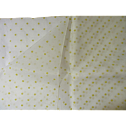 Wonderful Vintage Dotted Cotton Organdy Fabric