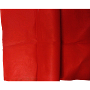 Rare Vintage Red Cotton Organdy Fabric