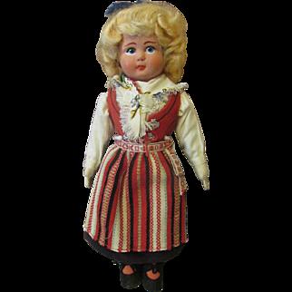 Vintage Cloth Folk Doll-Cute!