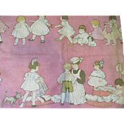 Delightful Antique Fabric Panel
