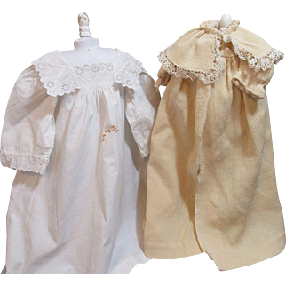 Two Antique Doll Dresses