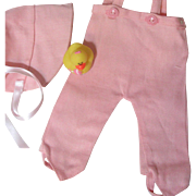 Factory Effanbee Bib Pants and Bonnet