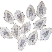 Lovely White Lacy Pearl Appliques