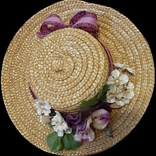 Most Feminine Straw Hat!
