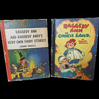 Two Vintage Raggedy Ann Books