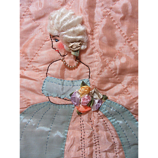 Elegant Quilted Southern Belle Panel