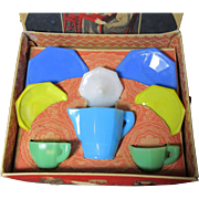 Akro Agate Tea Set-1930's, Boxed