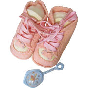 Precious Felt Doll Booties For Dy Dee Baby