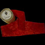 Gorgeous Antique Silk Jacquard Ribbon-Ruby Red