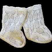 Delicate Antique Lace Jumeau Socks
