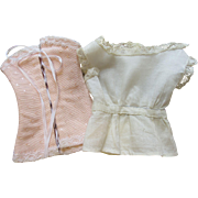 Antique French Fashion Doll Camisole & Pink Corset