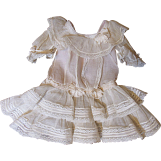 Frilly Antique Doll Dress